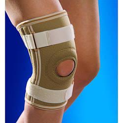Бандаж, ортез на коліно з металевими вставками OSD-0022 (наколінник, фіксатор колінного суглоба)