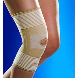 Наколінник, бандаж на коліно з ременями і пластинами OSD-1505 (ортез, фіксатор на колінний суглоб)