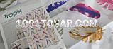 "Тканевая шторка для ванной комнаты из полиэстера ""Feather"" (Перья) Tropik, размер 180х200 см., Турция, фото 2"