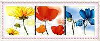 """Набор для вышивания крестом """"Радуга цветы"""""""