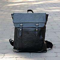 """Большой вместительный рюкзак для ноутбука, спорта, городской """"Касио Black"""", фото 1"""