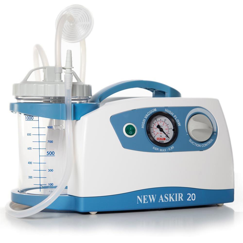 Отсасыватель медицинский портативный с вакуумным регулятором(аспиратор хирургический)NEW ASKIR 20 RE-310100/12