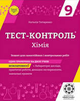 Тест-контроль. Хімія 9 клас. Титаренко Н.В.