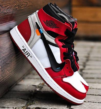 """ab32f15d7ea1 Баскетбольные кроссовки в стиле OFF-WHITE x Nike Air Jordan 1 """"Chicago"""","""