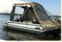 Палатка-тент на все ПВХ лодки до 3м