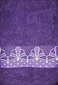 Полотенце махровое  Цветок (фиолетовый)