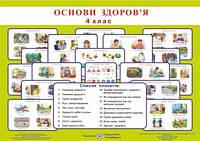 Комплект плакатів з основ здоров'я 4 клас + методичні рекомендації. Лабащук О.