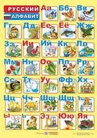 Плакат. Російський алфавіт (для учня). Вознюк Л.