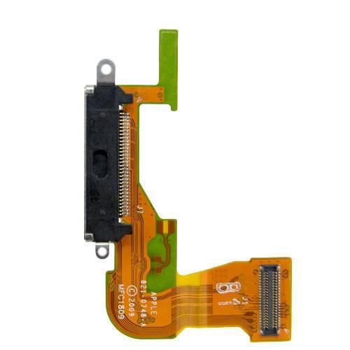 Порт зарядки и синхронизации со шлейфом iPhone 3GS черный, Порт зарядки і синхронізації зі шлейфом iPhone 3GS чорний