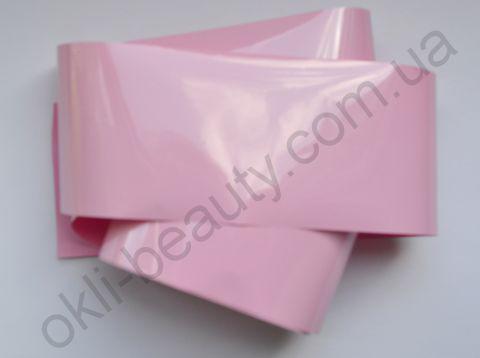 Фольга для дизайна ногтей, литья (переводная). Цвет: матовая нежно-розовая (Размер: 4см на 1 метр)