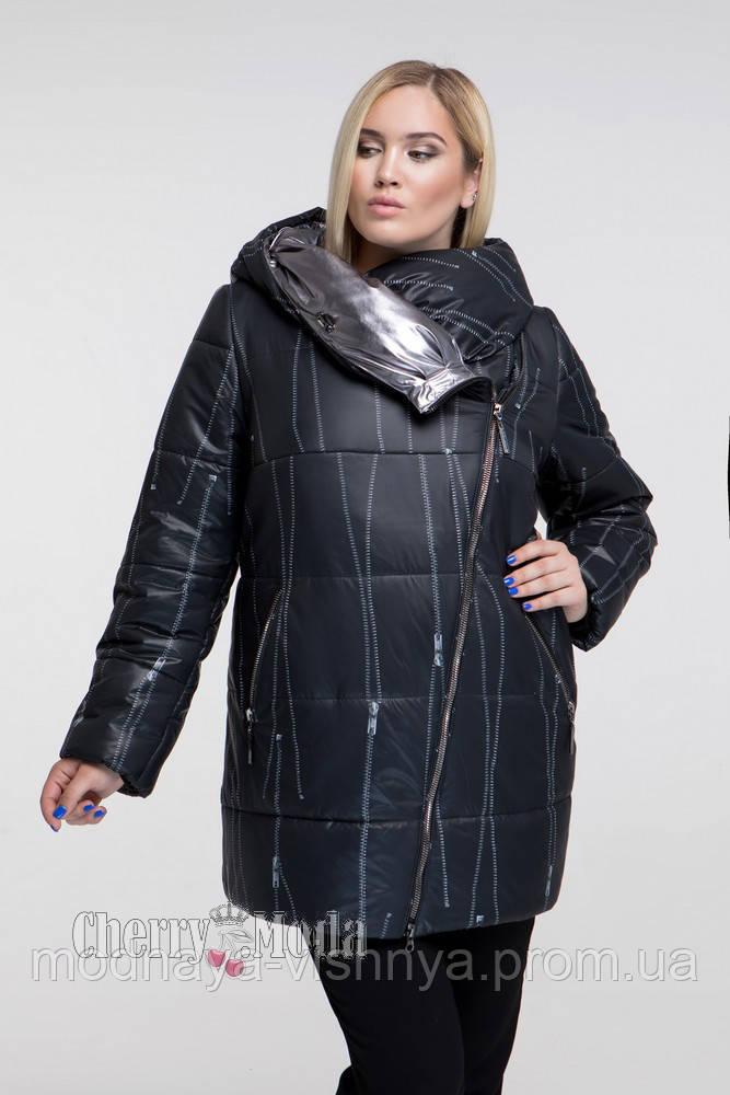 42254a08544 Женская модная зимняя куртка больших размеров (рр 54-70) черная ...