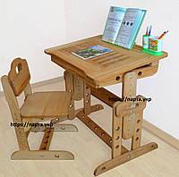 Растущая Парта и стул  Алфавит,  дерево бук + подставка, фото 1