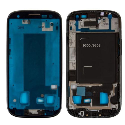 Рамка крепления дисплея Samsung I9300i Galaxy S3 Duos черная, Рамка кріплення дисплея Samsung I9300i Galaxy S3 Duos чорна