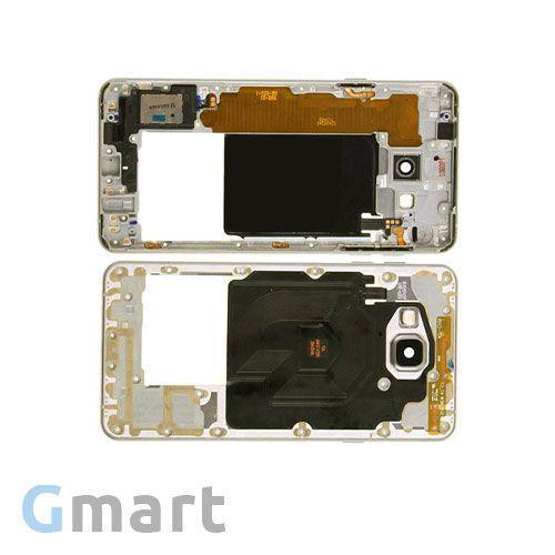 Средняя часть корпуса Samsung A7100 Galaxy A7 (Ver. 2016) золотистая