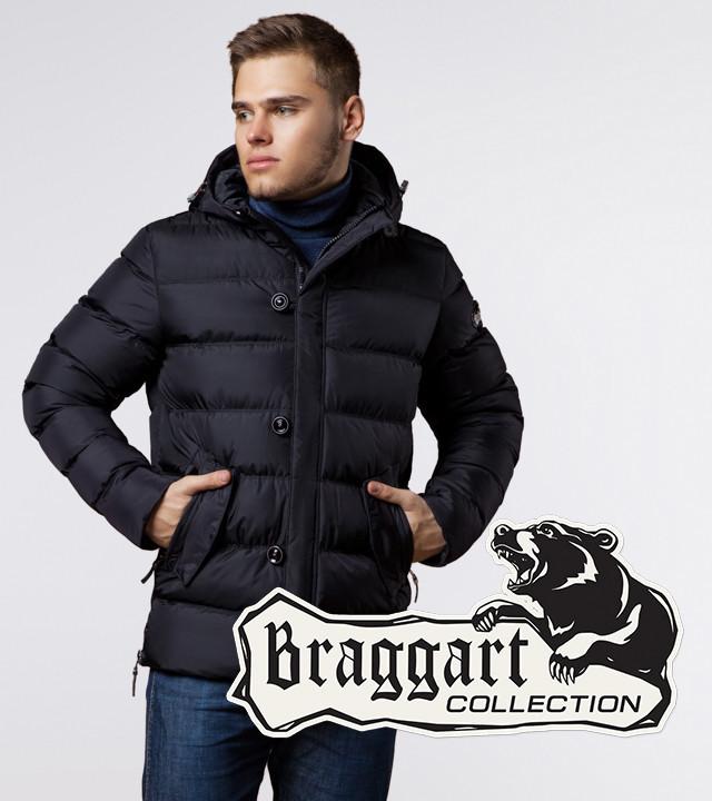 Зимняя куртка на молнии мужская Braggart 20180 черная