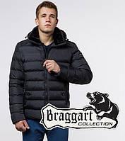 Куртка с капюшоном на молнии зима Braggart 24324 графит
