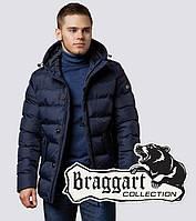 Мужская куртка на молнии зимняя Braggart 20180 темно-синяя