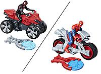 Фигурка Человека-паука 15см на транспортном средстве со стартером Hasbro (B9705)