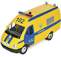 Автомодель - ГАЗЕЛЬ ПОЛИЦИЯ (желтая, свет, озвуч. укр.яз.) (CT-1276-17PU)