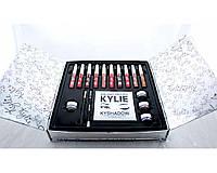 Наборы декоративной косметики Kylie KY-1 тени для глаз матовые и кремовые, 8 матовых помад, 2 блеска, разные цвета