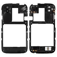 Рамка корпуса HTC Desire V T328w черная (стекло камеры, черная накладка, антенна в сборе), Рамка корпусу HTC Desire V T328w чорна (скло камери, чорна