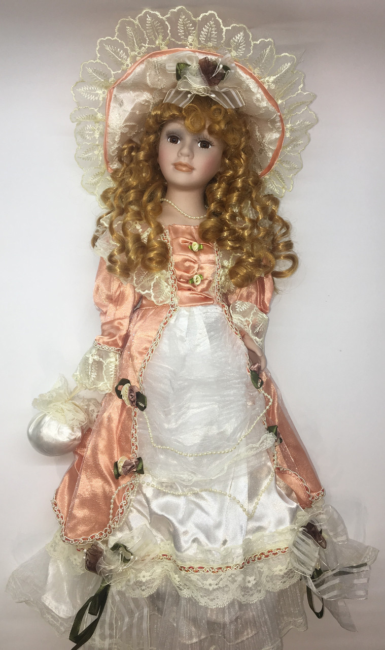 """Кукла сувенирная, фарфоровая, коллекционная Porcelain doll """"Элиза """"45 см (1303-08)"""