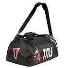 Сумка-рюкзак TITLE Boxing World Champion Sport Черная с белым, фото 2