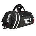 Сумка-рюкзак TITLE Boxing World Champion Sport Черная с белым, фото 3