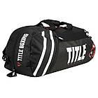Сумка-рюкзак TITLE Boxing World Champion Sport Черная с белым, фото 4