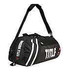 Сумка-рюкзак TITLE Boxing World Champion Sport Черная с белым, фото 5