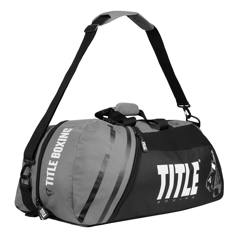 Сумка-рюкзак TITLE Boxing World Champion Sport Черная с серым