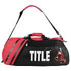 Сумка-рюкзак TITLE Boxing World Champion Sport Черная с красным, фото 4