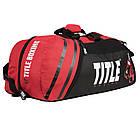 Сумка-рюкзак TITLE Boxing World Champion Sport Черная с красным, фото 2