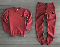 Зимний мужской спортивный костюм Adidas красного цвета