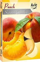 Свечи  ароматизированные персик в гильзе