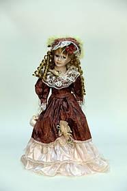 """Интерьерная кукла сувенирная, фарфоровая, коллекционная Porcelain doll """"Луиза"""" 50см (1303-02 A)"""
