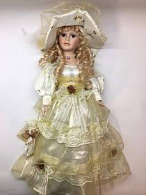 """Кукла сувенирная, подарочная фарфоровая, коллекционная Porcelain doll """"Каролина"""" 50 см (1303-04)"""