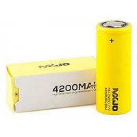 MXJO IMR26650F 4200mAh (до 40А) - высокотоковый аккумулятор для электронных сигарет. Оригинал, фото 1