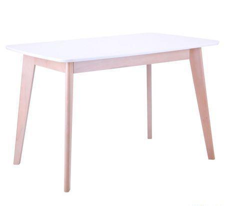 Стол обеденный Модерн CO-293 шпон 1200*750 Белый/Бук беленый  (AMF-ТМ)
