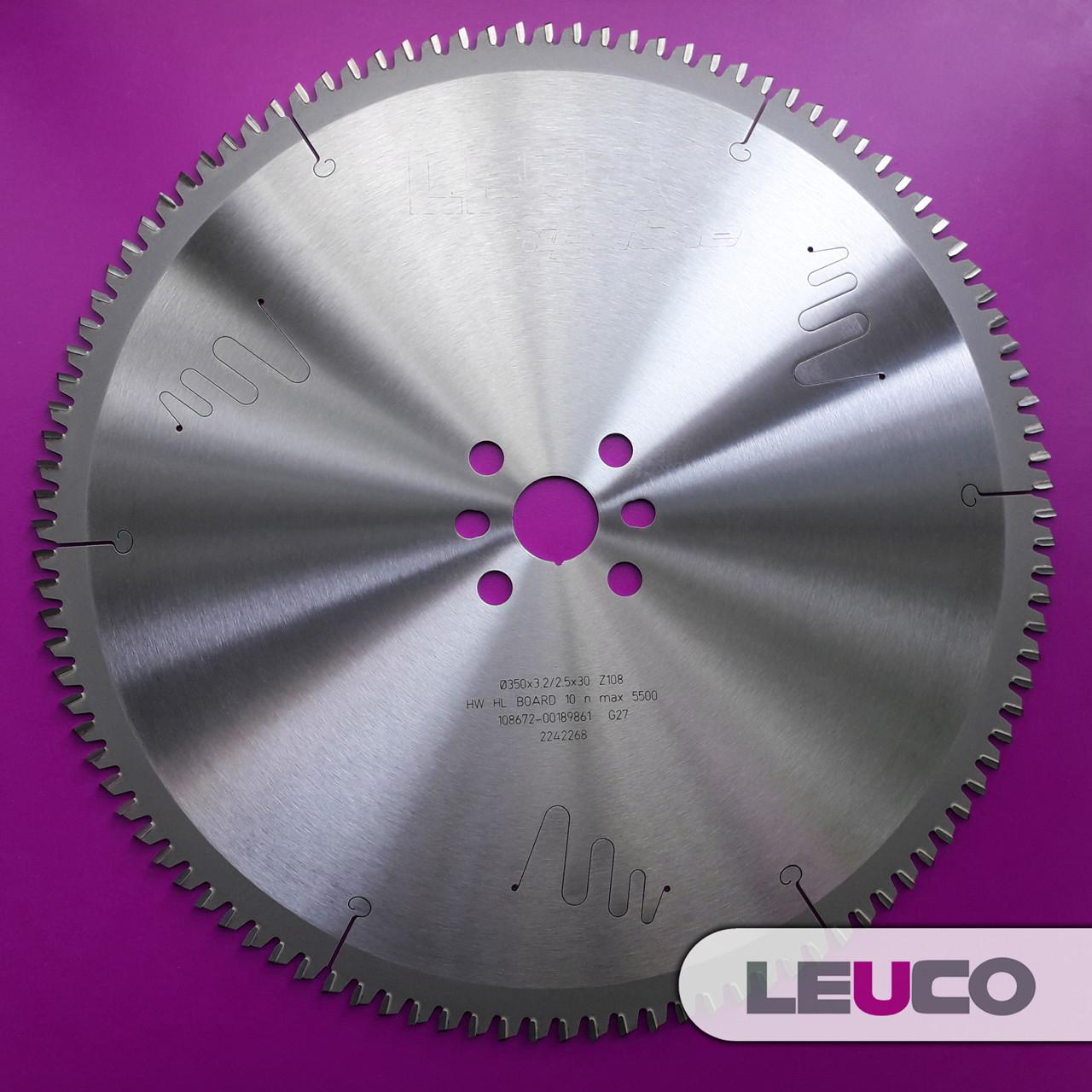 350x3,2x2,5x30 Z=108 Дисковая пила Leuco по алюминию для торцевания и косого реза