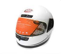 Мотошлем интеграл MoтоTech WLT-106 белый, размер M, фото 1