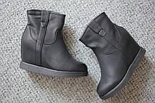 Женские ботинки танкетка мех цегейка Ella Lux Black 36 - 40