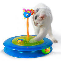 Petstages іграшка для котів Трек з м'ячиком для ласощів (pt367)