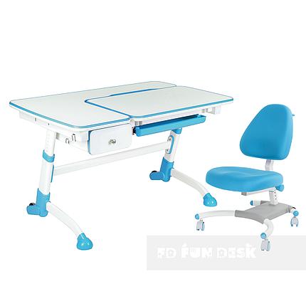 Комплект подростковая парта Amare Blue с выдвижным ящиком + подростковое кресло для дома Ottimo Blue FunDesk, фото 2