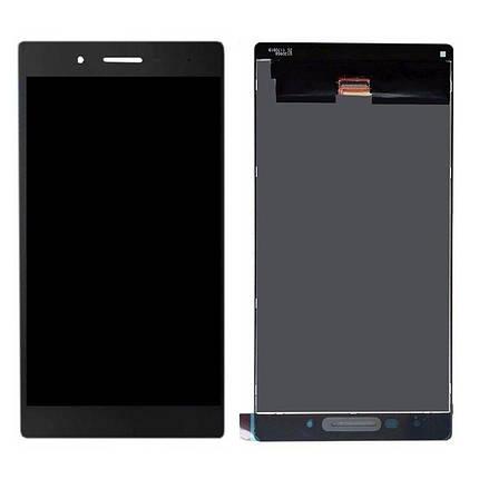Екран (дисплей) для Lenovo TB-7304 Tab 7 з сенсором (тачскрін) чорний Оригінал, фото 2