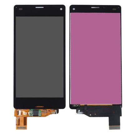Дисплей (экран) для Sony D5833 Xperia Z3 Compact с сенсором (тачскрином) черный, фото 2