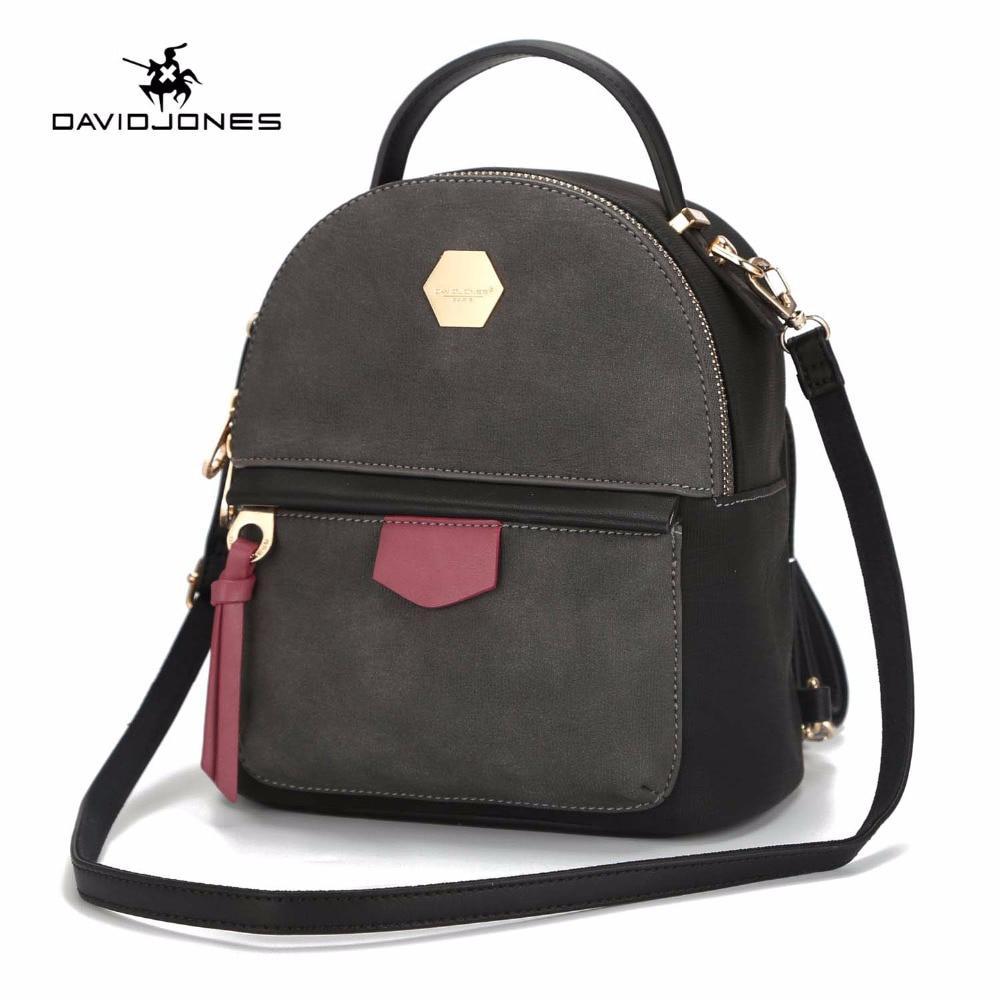Рюкзак сумка міський жіночий DAVID JONES (чорний)