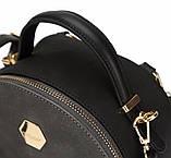 Рюкзак сумка міський жіночий DAVID JONES (чорний), фото 5