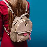 Рюкзак сумка міський жіночий DAVID JONES (чорний), фото 8
