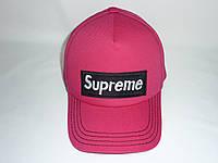 Кепка малиновая Supreme, фото 1